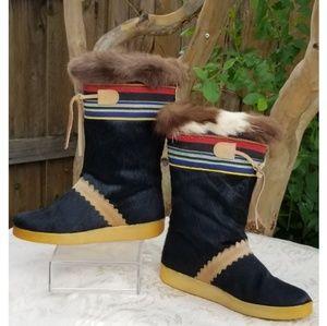 Gorgeous Rare Tecnica Winter Fur Boots size 35